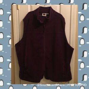 Fleece-esque vest in plum/wine color